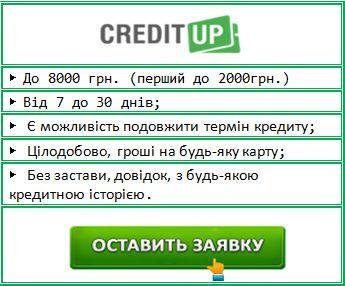 гроші в кредит терміново онлайн