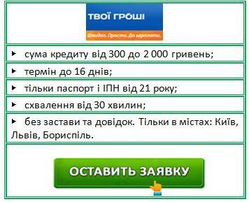 взяти швидко гроші онлайн