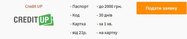 Кредит готівкою в Києві - оформити онлайн заявку